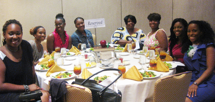 HOTGIRLS youth advisors at the NAUW luncheon